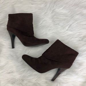 Marc Fisher Suede Folded Ankle Booties